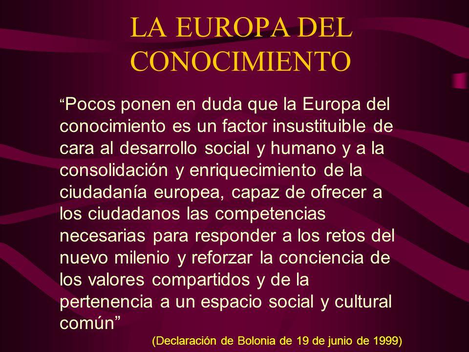 LA EUROPA DEL CONOCIMIENTO