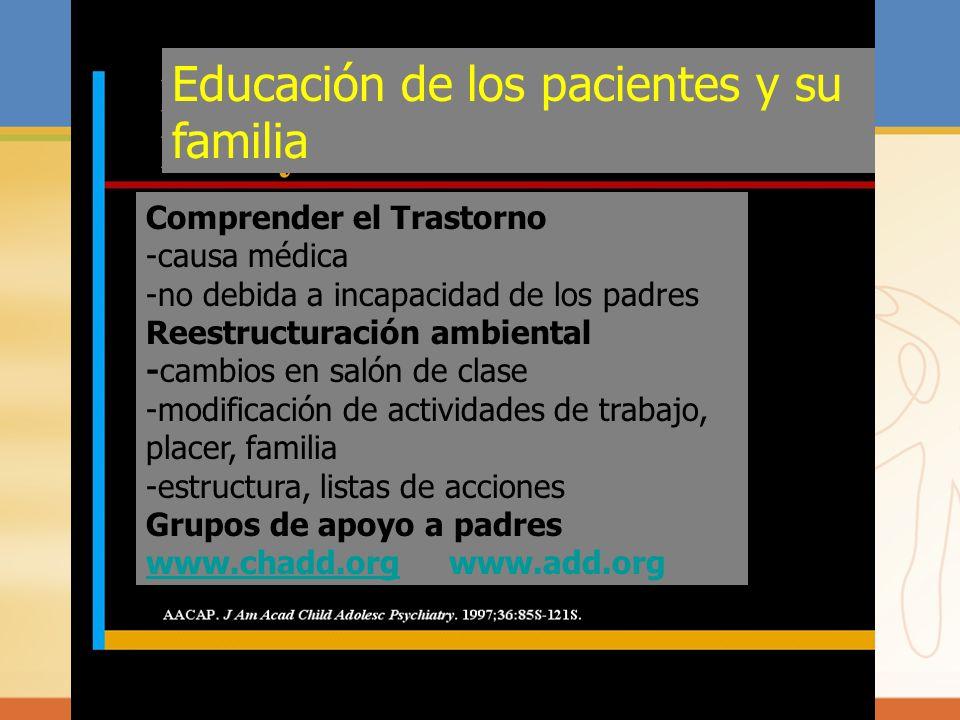 Educación de los pacientes y su familia