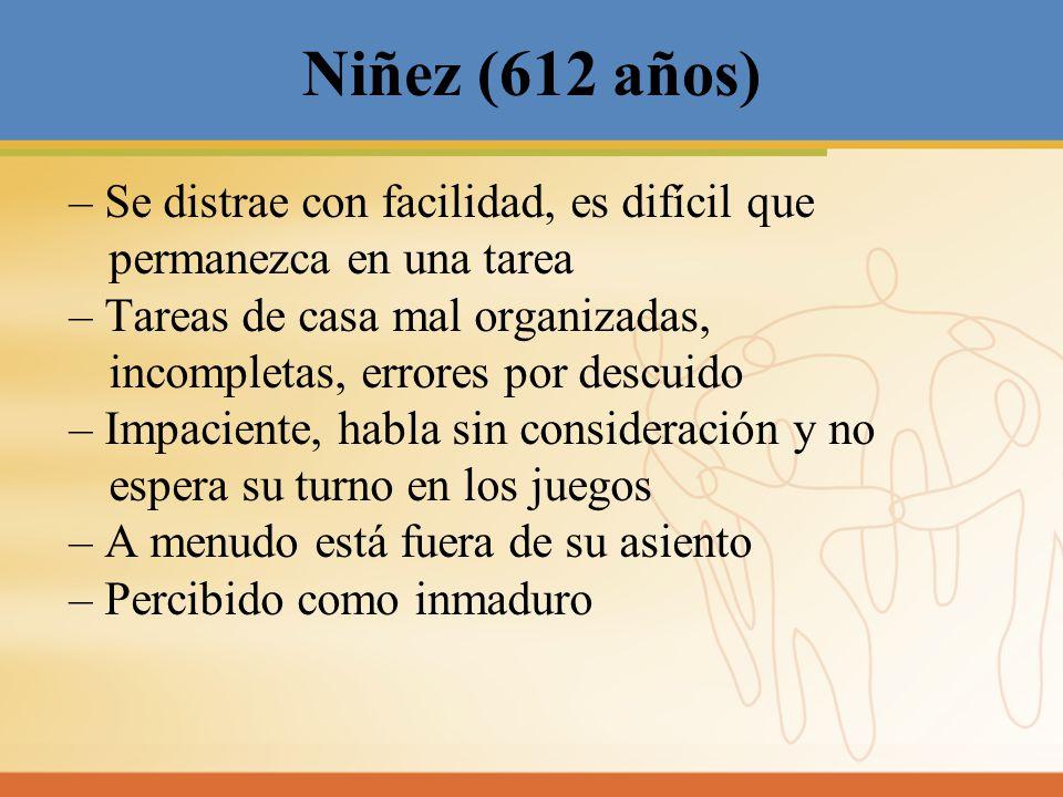 Niñez (612 años)