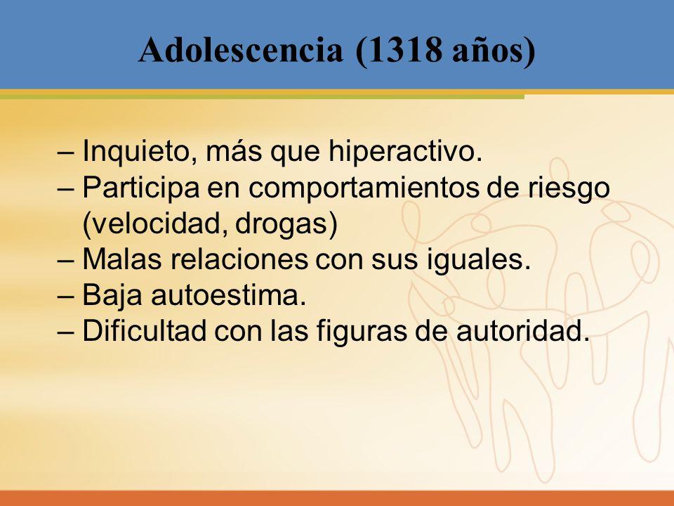 Adolescencia (1318 años)