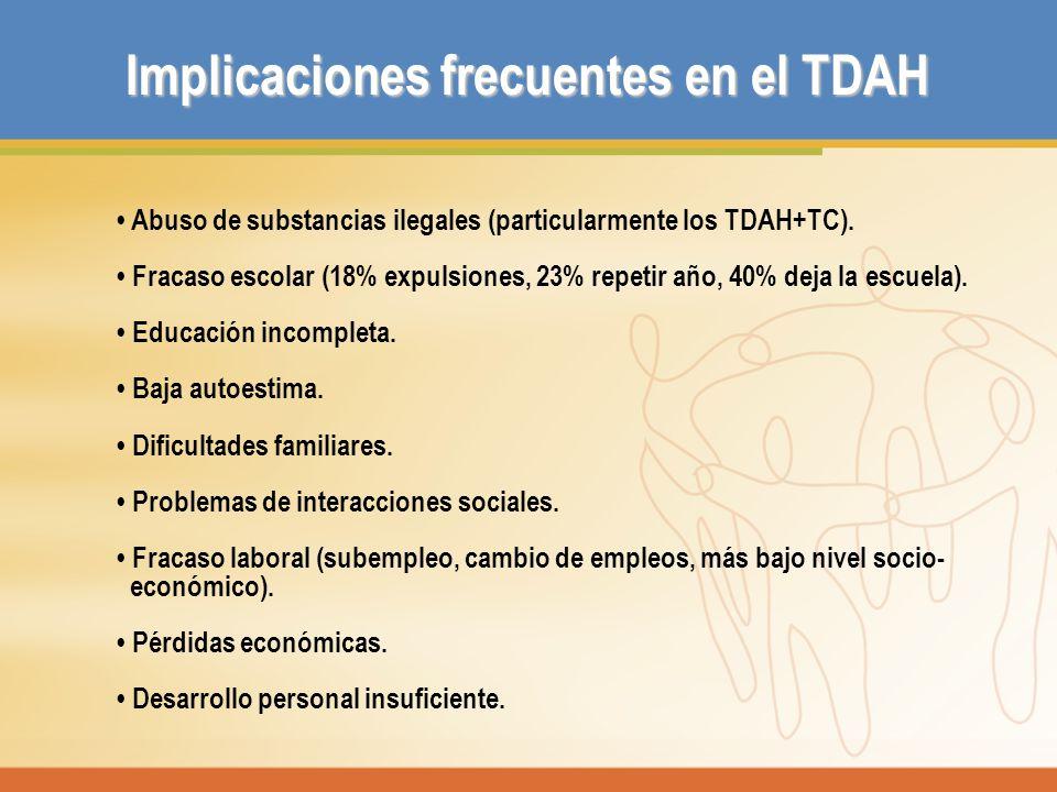 Implicaciones frecuentes en el TDAH
