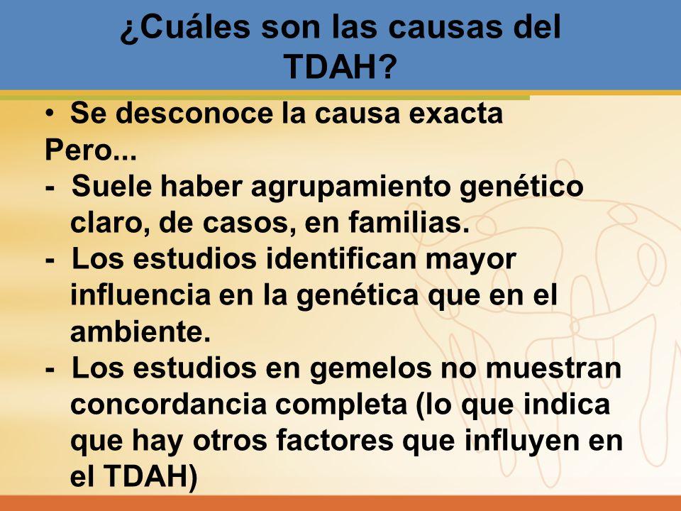 ¿Cuáles son las causas del TDAH