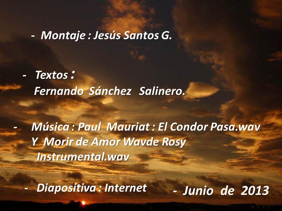 - Junio de 2013 - Montaje : Jesús Santos G. - Textos :
