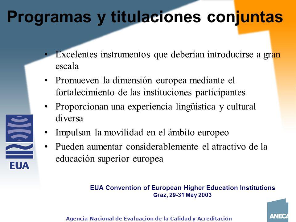 Programas y titulaciones conjuntas