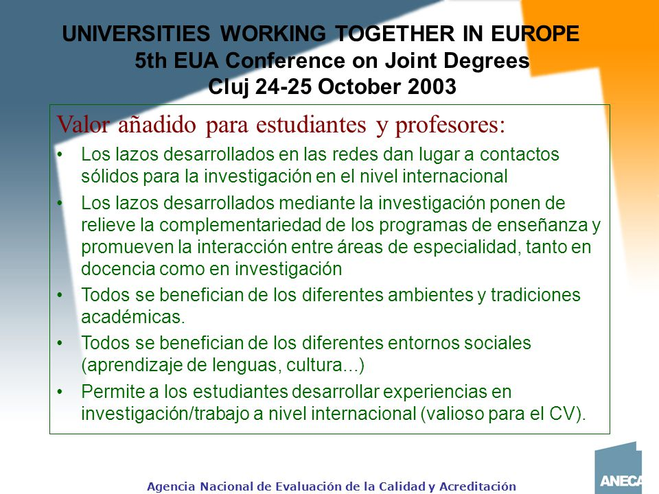 5th EUA Conference on Joint Degrees