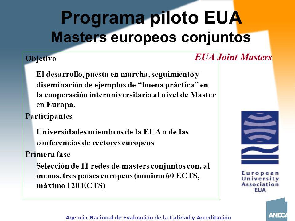 Programa piloto EUA Masters europeos conjuntos