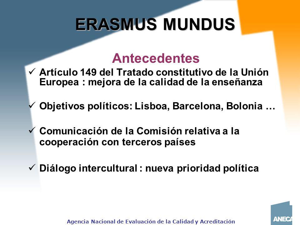 ERASMUS MUNDUS Antecedentes