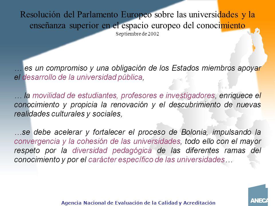 Resolución del Parlamento Europeo sobre las universidades y la enseñanza superior en el espacio europeo del conocimiento