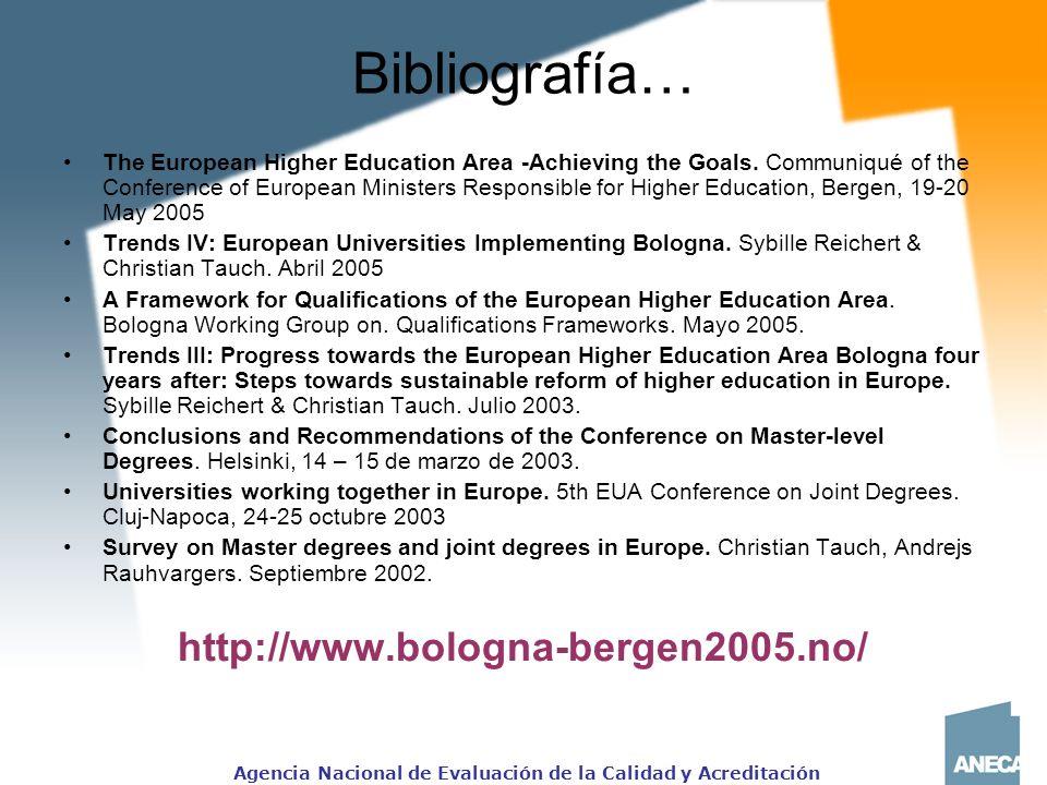 Bibliografía… http://www.bologna-bergen2005.no/