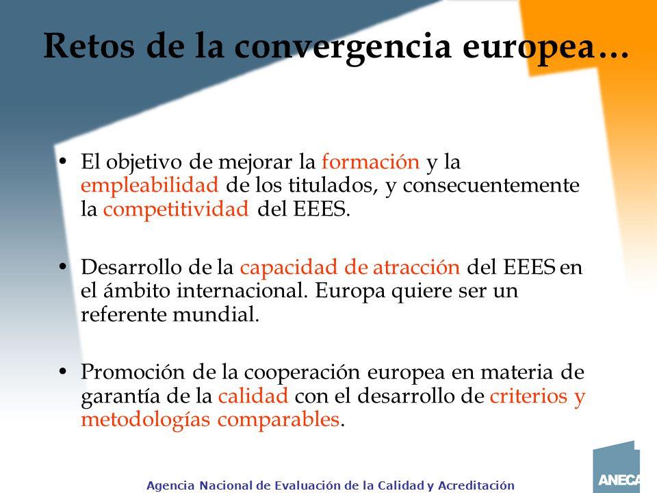 Retos de la convergencia europea…