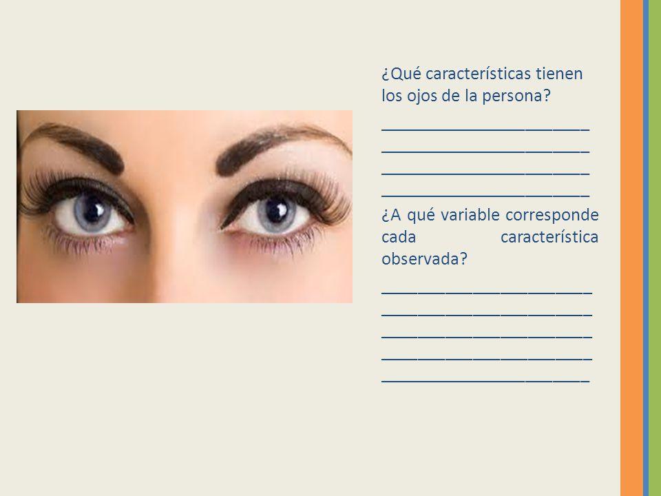¿Qué características tienen los ojos de la persona
