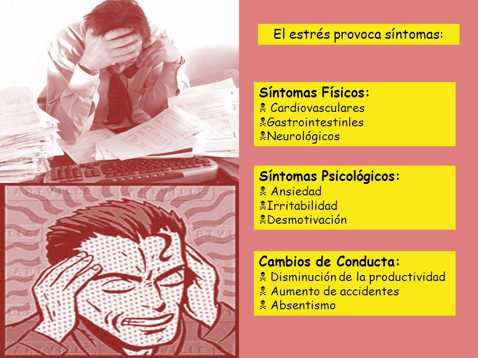 El estrés provoca síntomas: