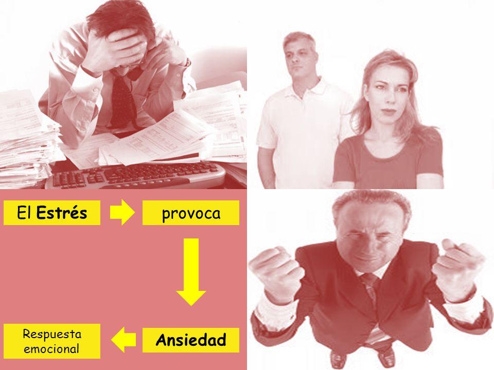 El Estrés provoca Respuesta emocional Ansiedad