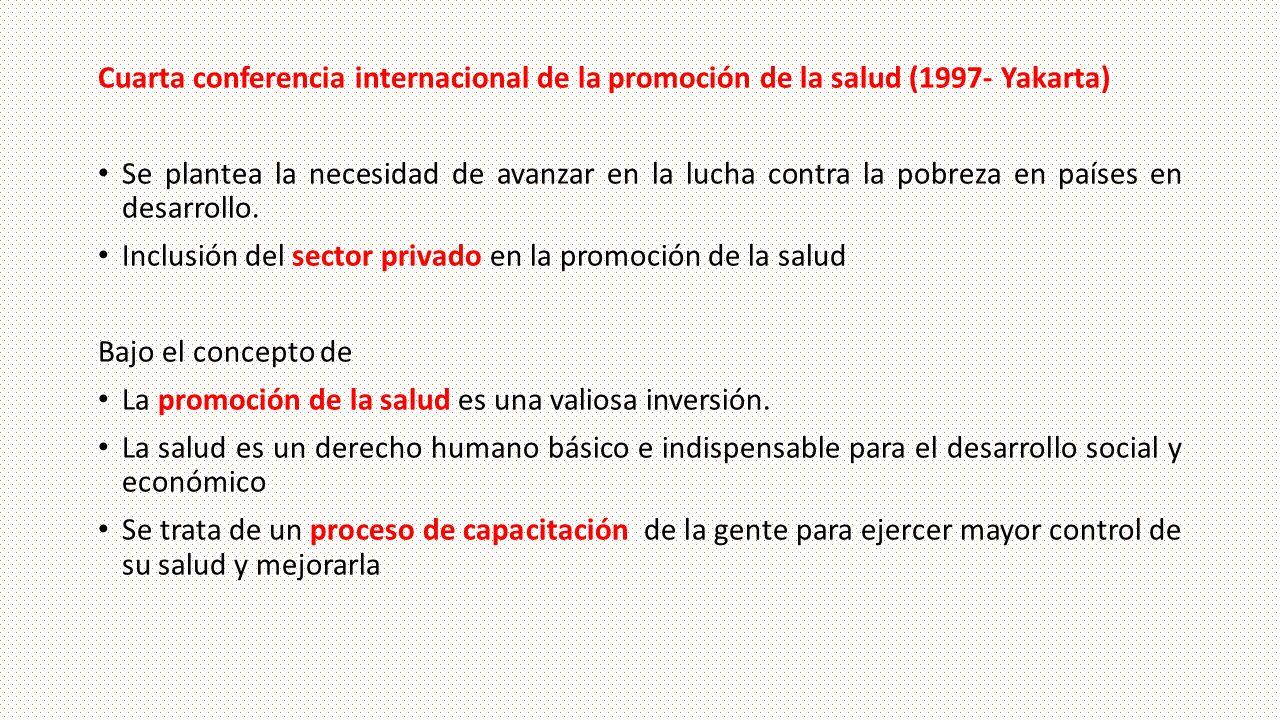 Cuarta conferencia internacional de la promoción de la salud (1997- Yakarta)