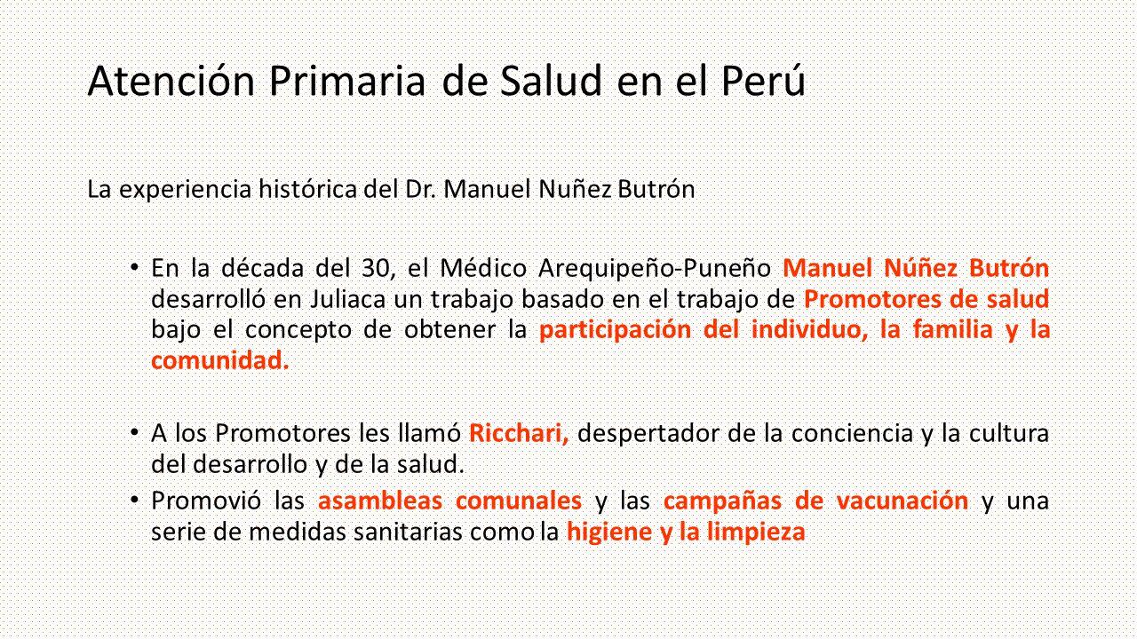 Atención Primaria de Salud en el Perú