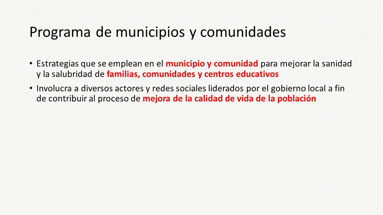 Programa de municipios y comunidades