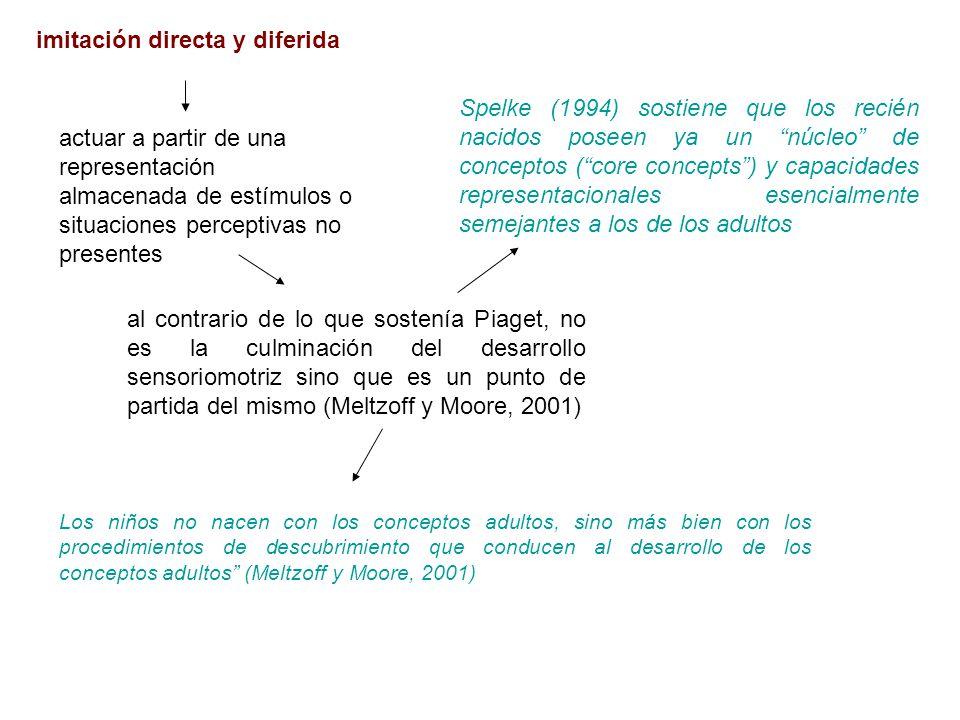 imitación directa y diferida