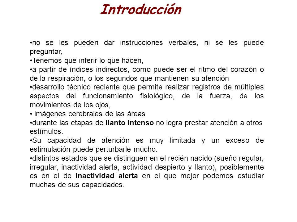 Introducción no se les pueden dar instrucciones verbales, ni se les puede preguntar, Tenemos que inferir lo que hacen,