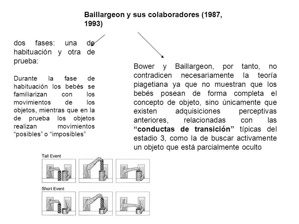 Baillargeon y sus colaboradores (1987, 1993)
