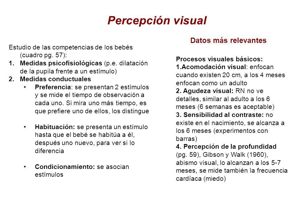 Percepción visual Datos más relevantes