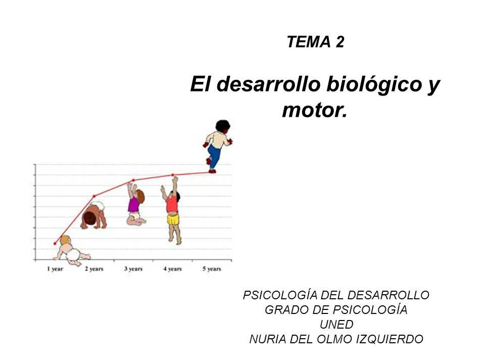 El desarrollo biológico y motor.