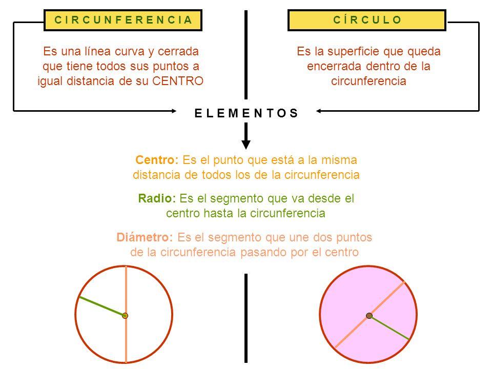 Es la superficie que queda encerrada dentro de la circunferencia