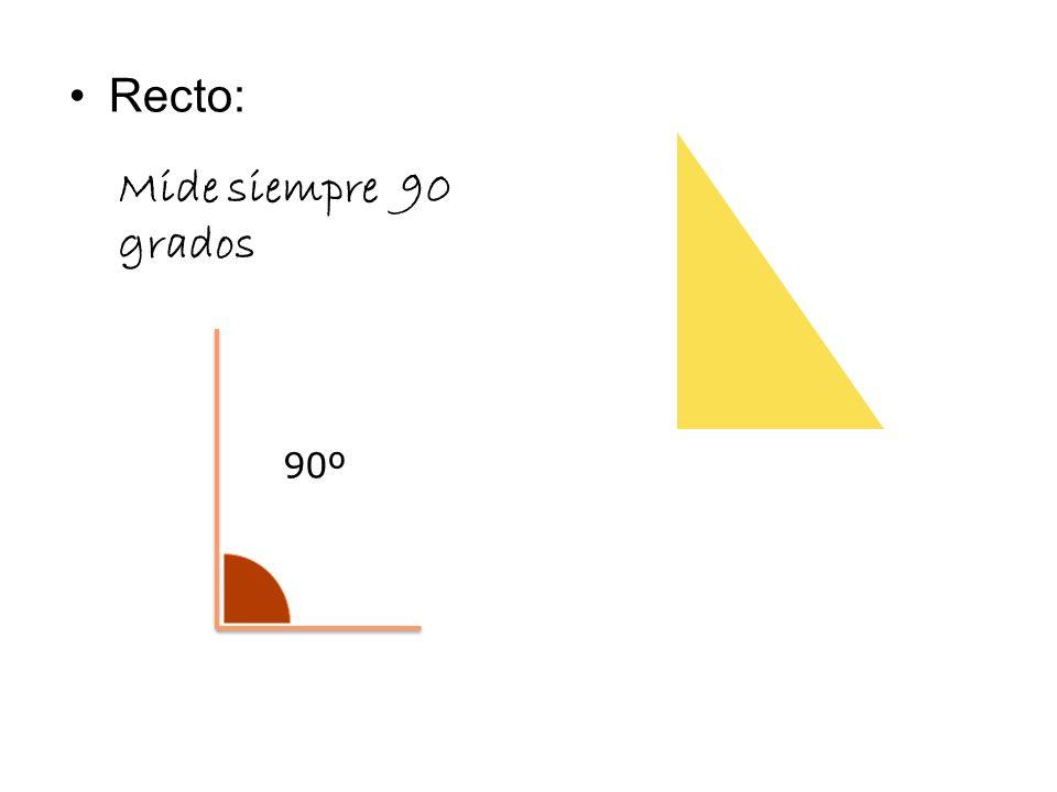 Recto: Mide siempre 90 grados 90º