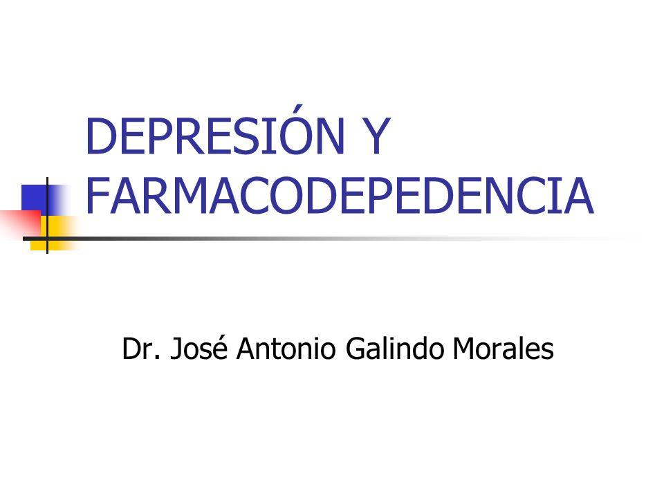 DEPRESIÓN Y FARMACODEPEDENCIA