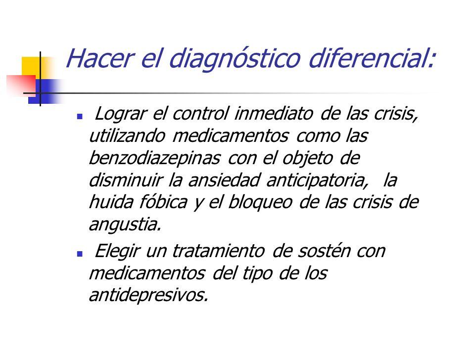 Hacer el diagnóstico diferencial: