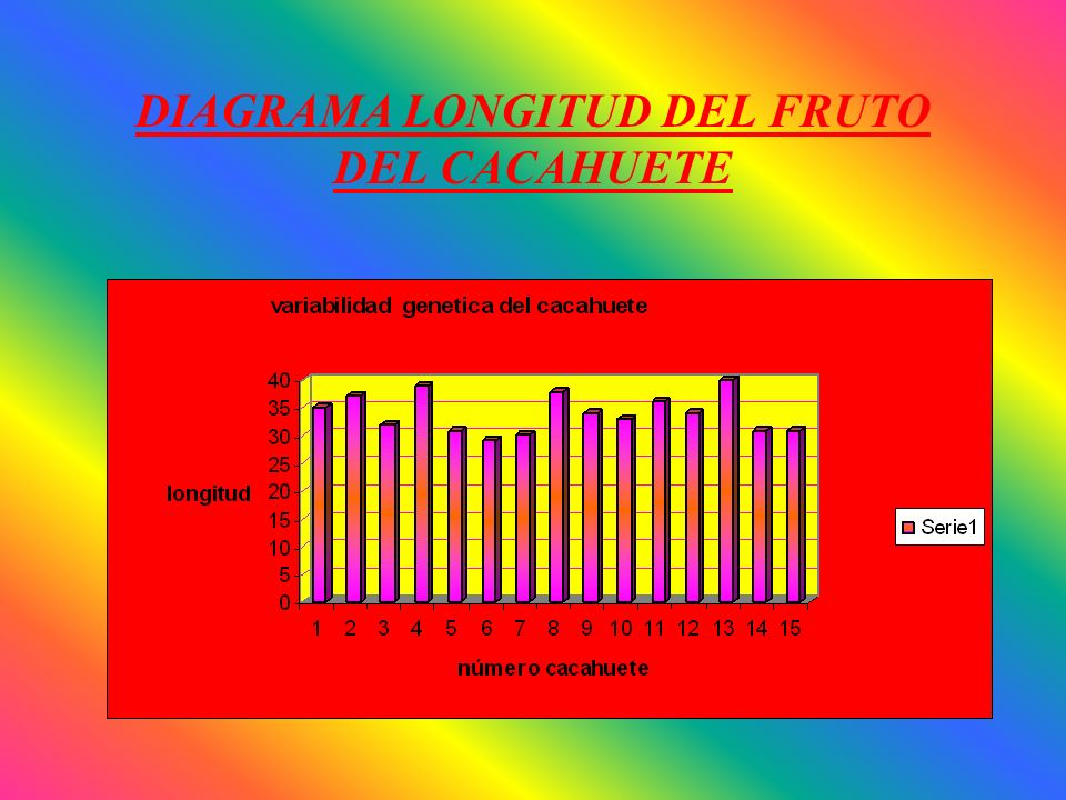 DIAGRAMA LONGITUD DEL FRUTO DEL CACAHUETE