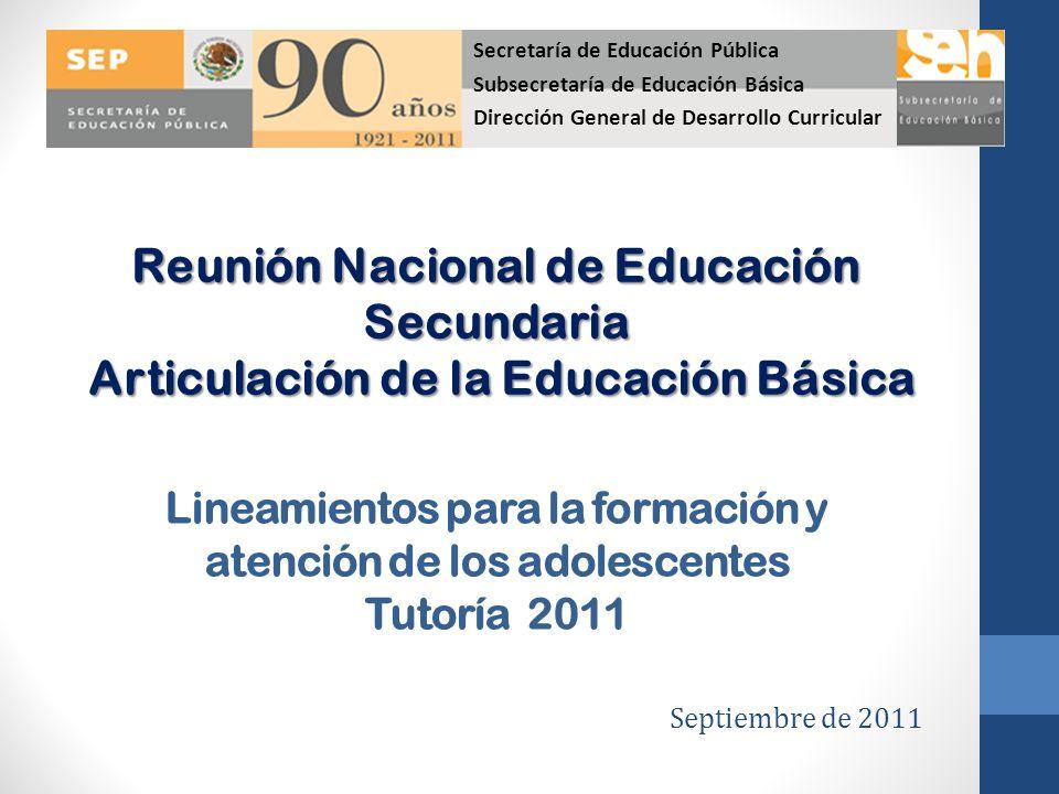 Reunión Nacional de Educación Secundaria