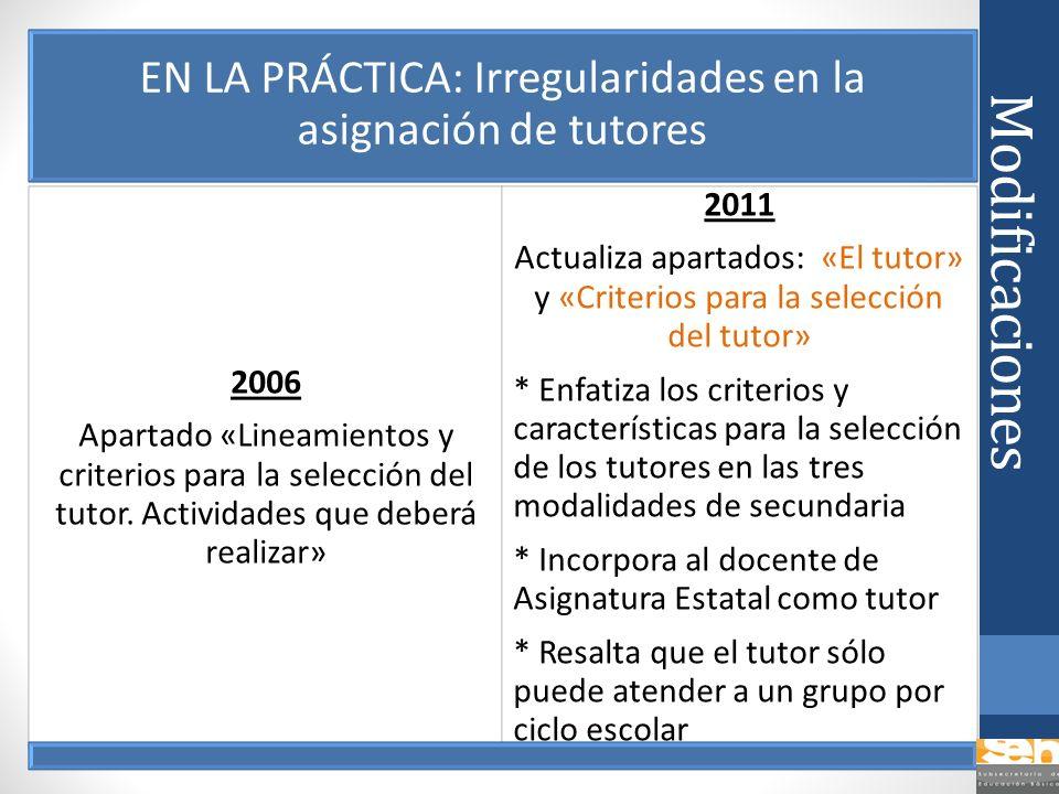 EN LA PRÁCTICA: Irregularidades en la asignación de tutores