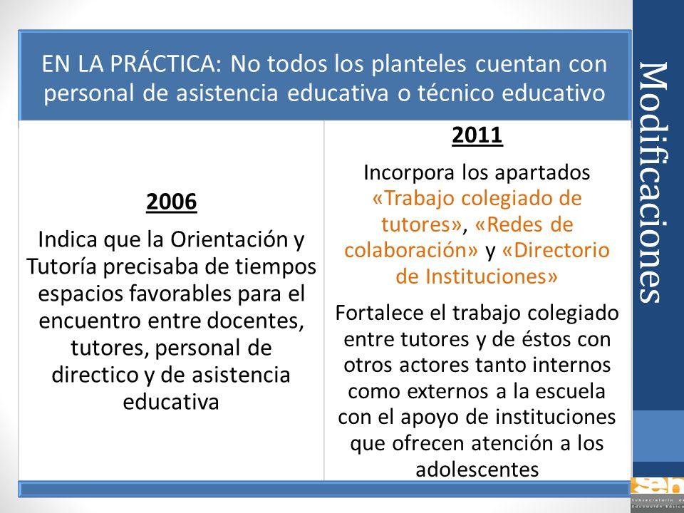EN LA PRÁCTICA: No todos los planteles cuentan con personal de asistencia educativa o técnico educativo