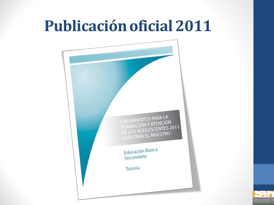 Publicación oficial 2011