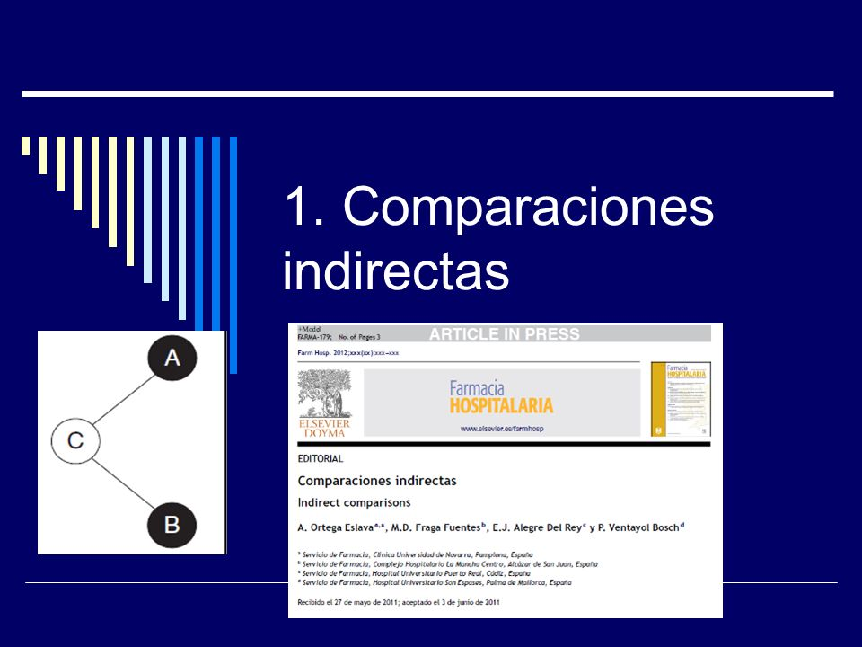 1. Comparaciones indirectas