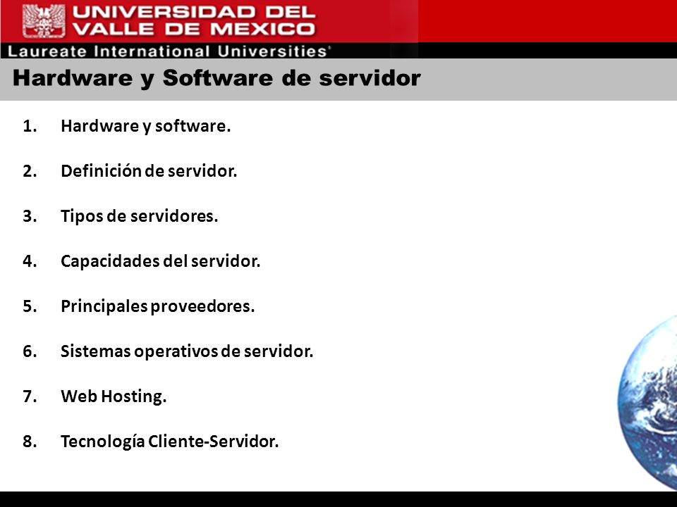 Hardware y Software de servidor