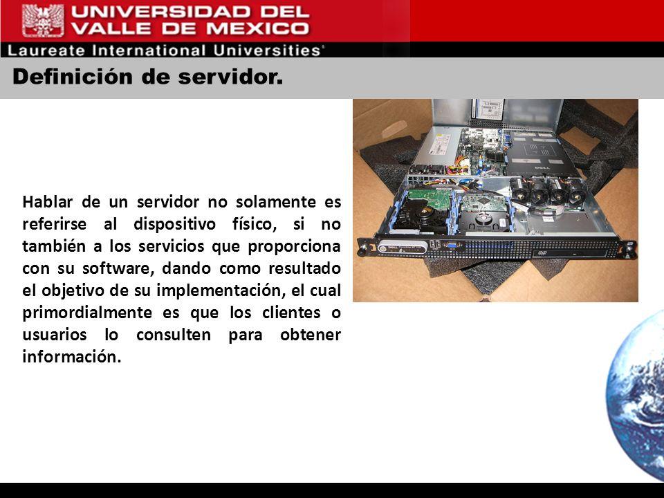 Definición de servidor.