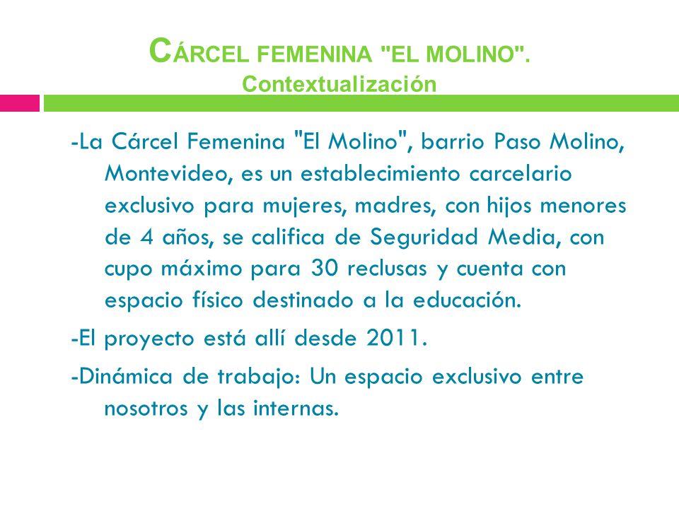 CÁRCEL FEMENINA EL MOLINO . Contextualización