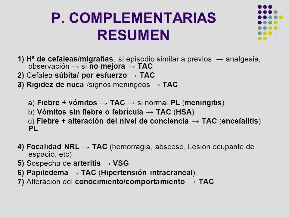 P. COMPLEMENTARIAS RESUMEN
