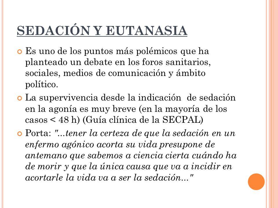 SEDACIÓN Y EUTANASIA