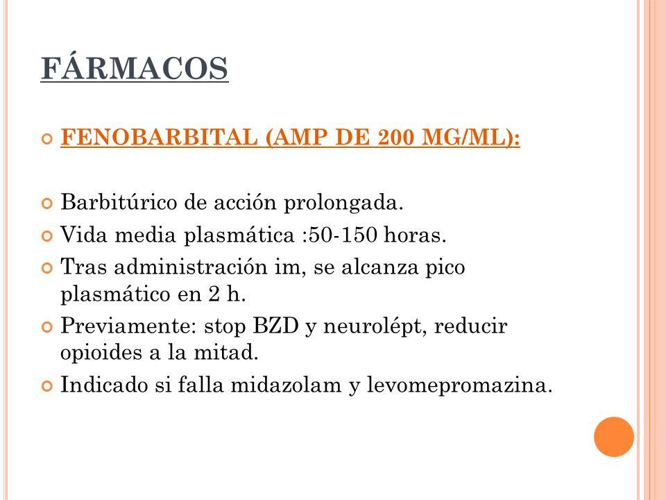 FÁRMACOS FENOBARBITAL (AMP DE 200 MG/ML):