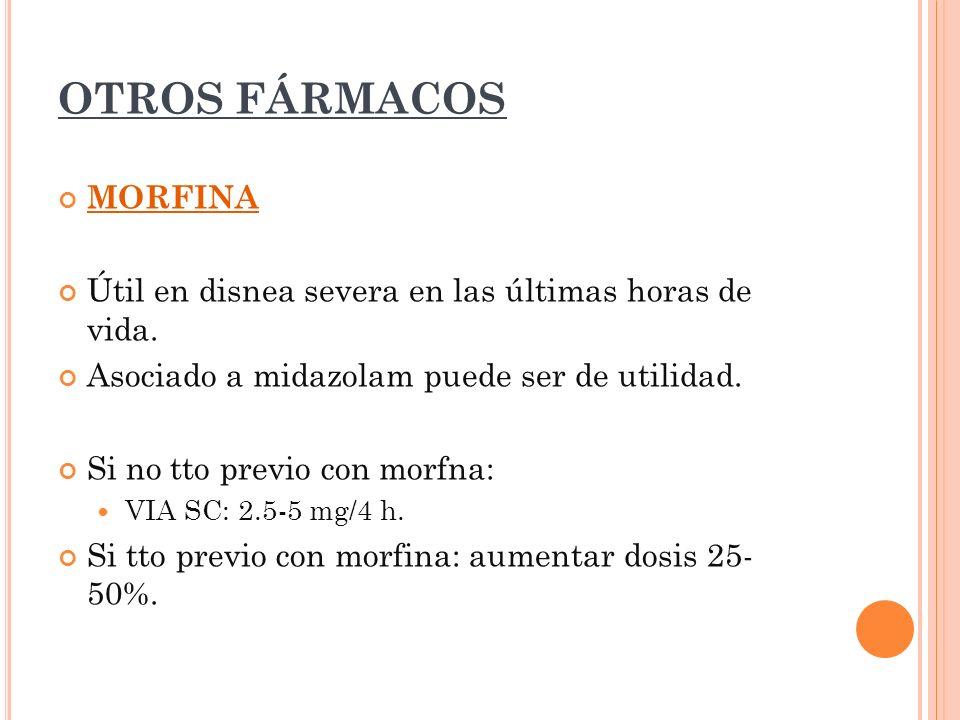OTROS FÁRMACOS MORFINA