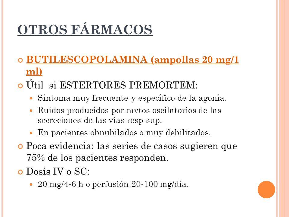 OTROS FÁRMACOS BUTILESCOPOLAMINA (ampollas 20 mg/1 ml)