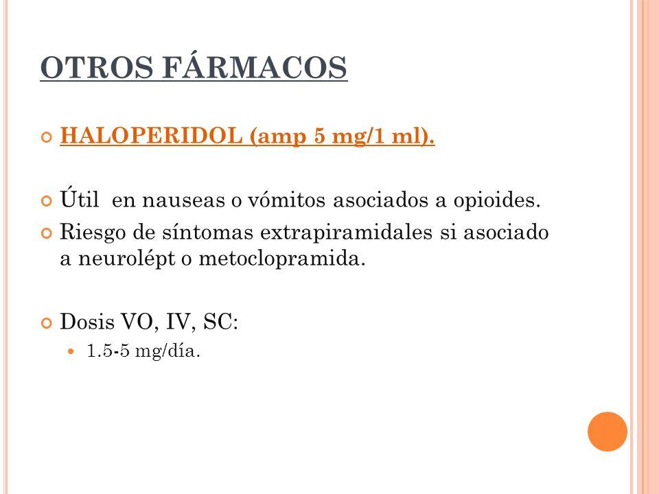 OTROS FÁRMACOS HALOPERIDOL (amp 5 mg/1 ml).
