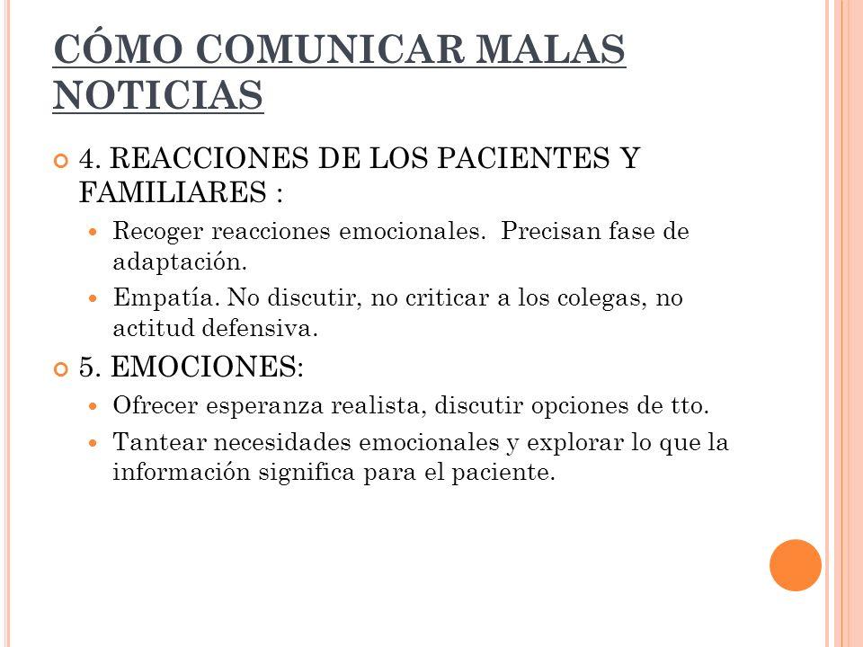 CÓMO COMUNICAR MALAS NOTICIAS