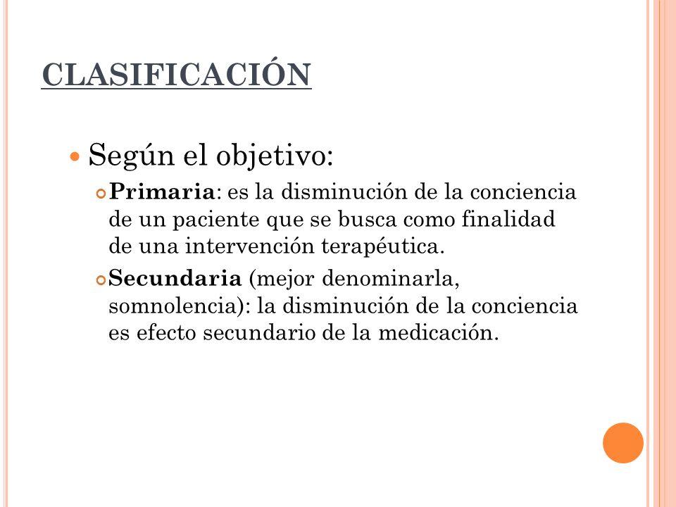 CLASIFICACIÓN Según el objetivo: