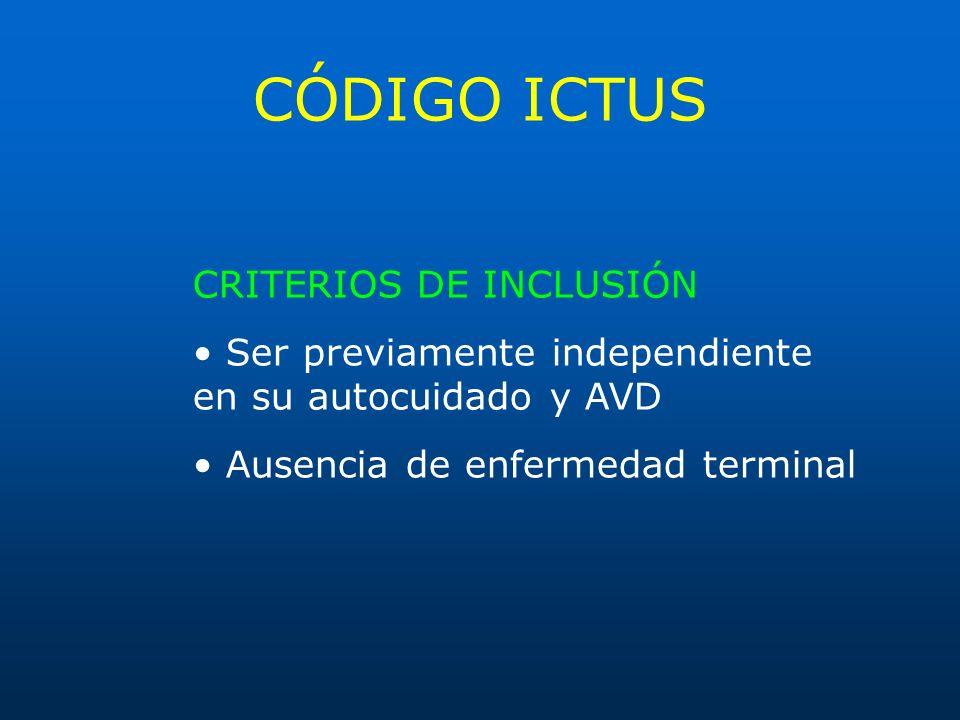 CÓDIGO ICTUS CRITERIOS DE INCLUSIÓN