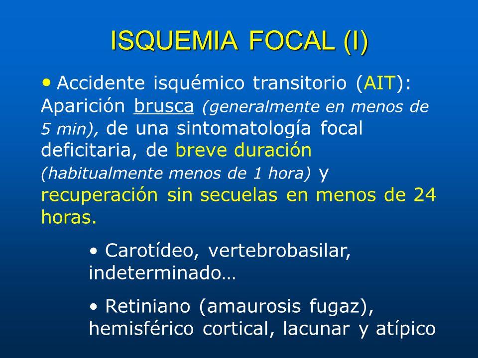 ISQUEMIA FOCAL (I)
