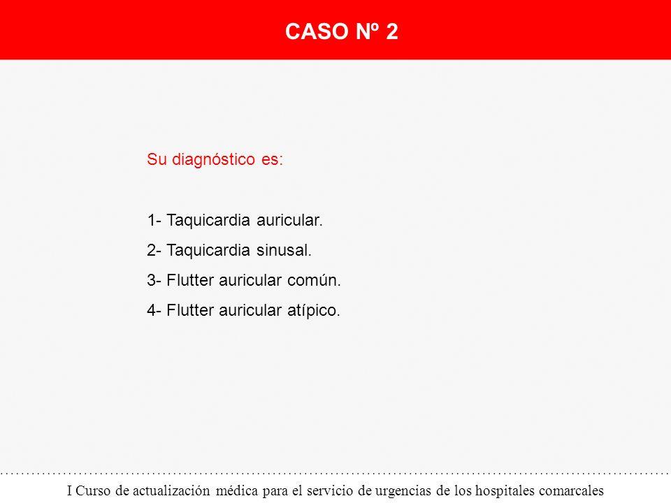 CASO Nº 2 Su diagnóstico es: 1- Taquicardia auricular.