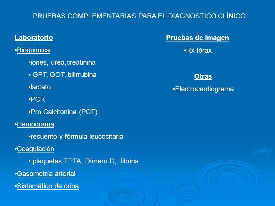 PRUEBAS COMPLEMENTARIAS PARA EL DIAGNOSTICO CLÍNICO